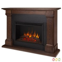 Callaway Grand Vivid Led Electric Fireplace In Chestnut