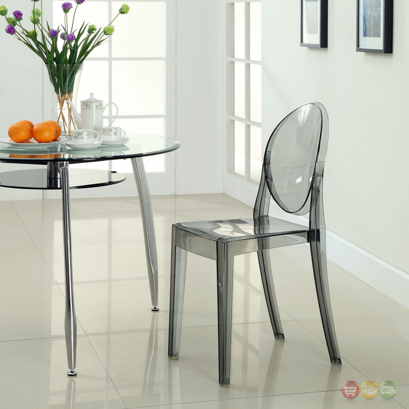 clear dining chair black kitchen covers casper modern transparent plastic side