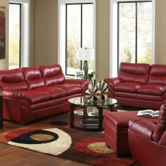 Red Leather Sofa Living Room Ideas Circle Furniture Reviews
