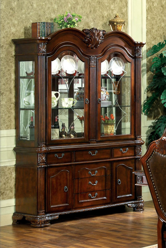 living room buffet cabinet simple false ceiling designs for india chateau traditional formal dining furniture set|free ...