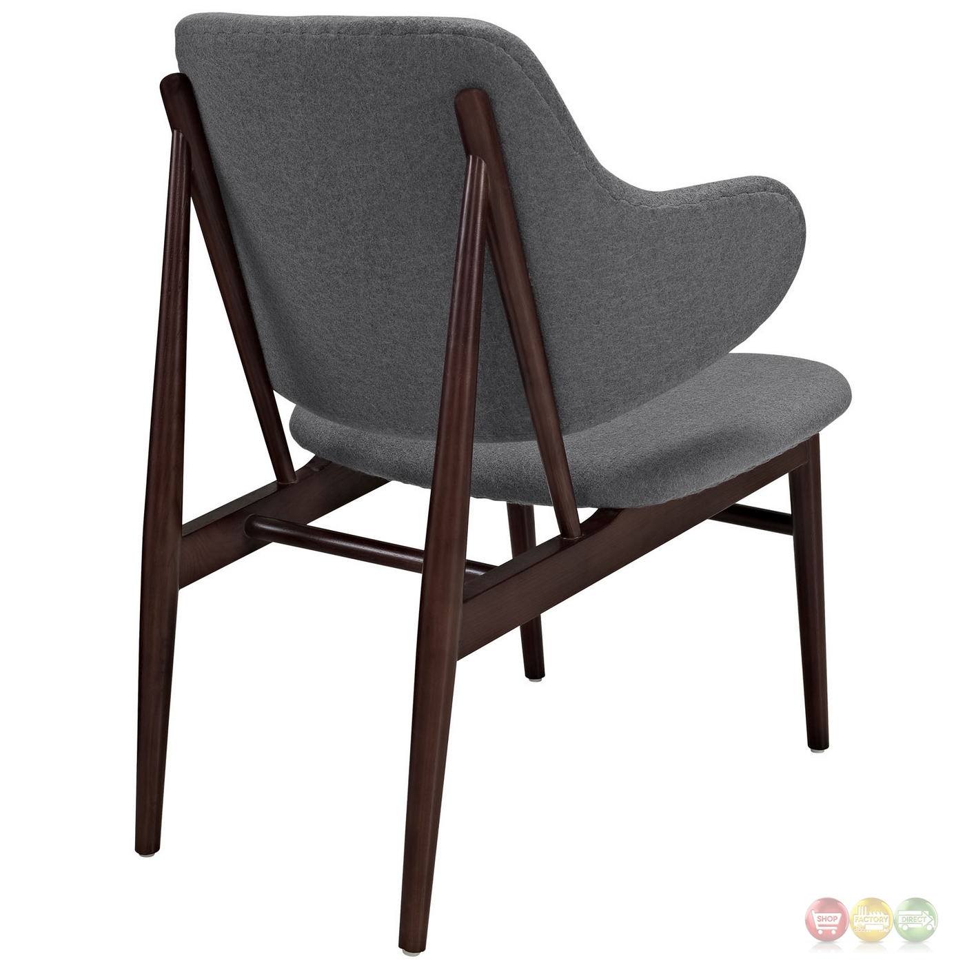 Cherry Chairs Cherish Modern Dark Cherry Wood Lounge Chair W Upholstered