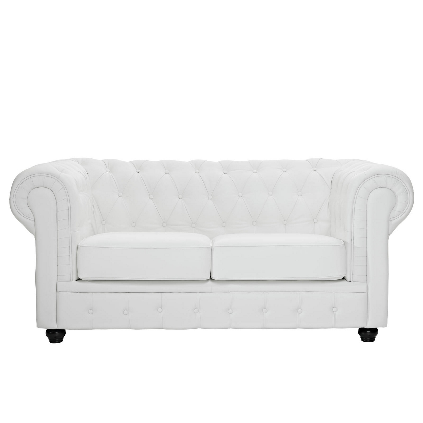 tufted leather sofa with rolled arms bamboo arm tray chesterfield modern button loveseat w