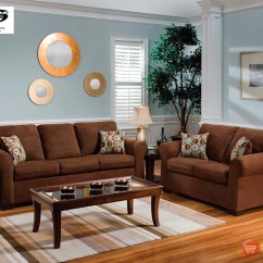 Living Room Chair Sets Kneeling Amazon Chocolate Brown Microfiber Sofa And Love Seat
