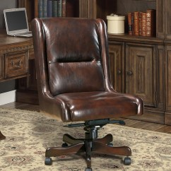 Genuine Leather Chair Diy Wedding Covers And Sashes Cigar Brown Armless Desk Traditional