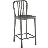 Clink Industrial Counter Height Stool With Brushed Steel ...