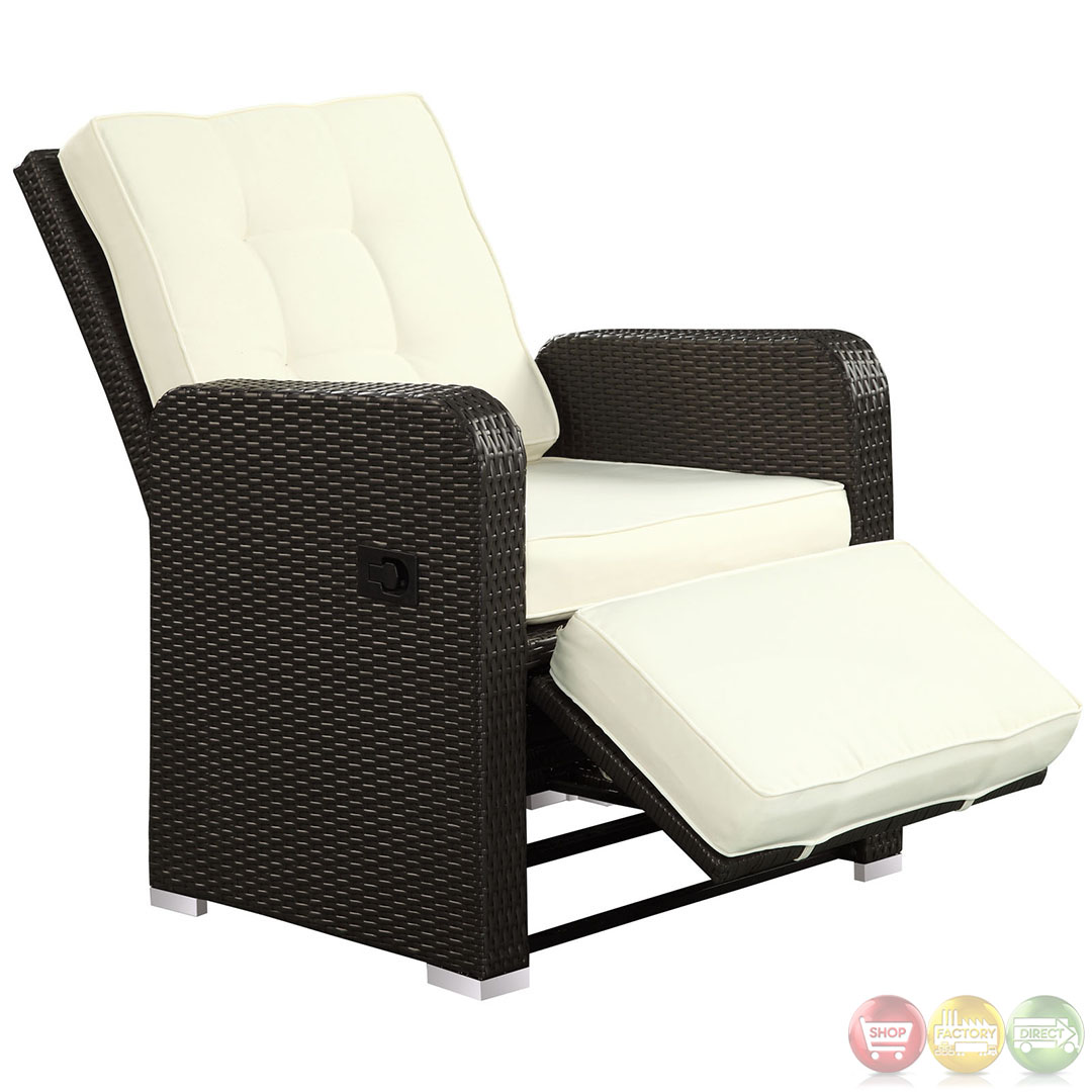 wicker recliner chair futon sleeper bed commence modern outdoor patio armchair