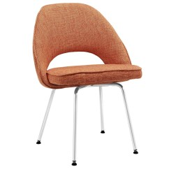 Orange Upholstered Chair Cover Rental Charlotte Nc Cordelia Contemporary Tweed Dining Side