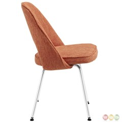 Orange Upholstered Chair Massage Recliner Cordelia Contemporary Tweed Dining Side