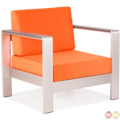 Orange Outdoor Chairs Office Chair Adjustable Arms Cosmopolitan Arm Cushions Zuo Modern 701841