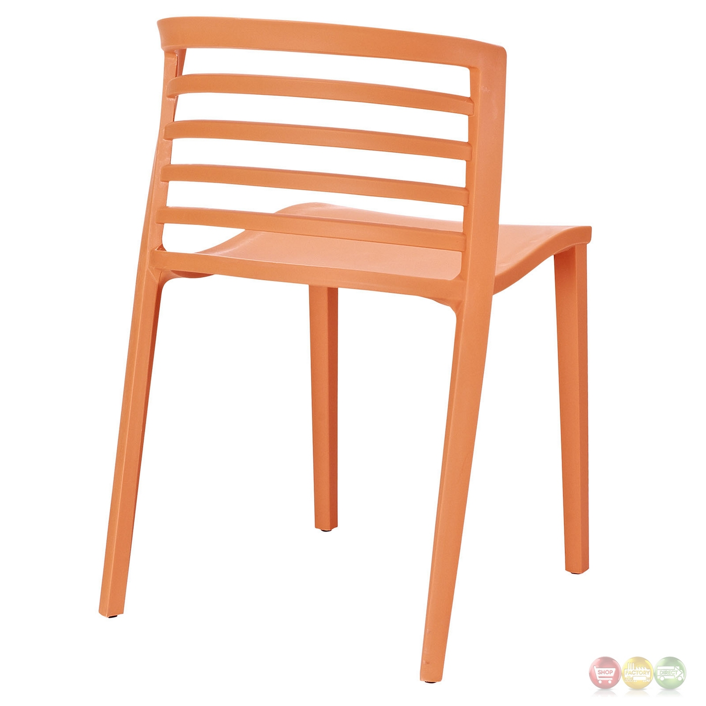 orange stackable chairs cheap pedicure curvy contemporary molded plastic dining