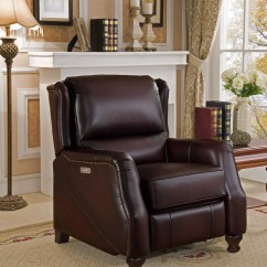 Dark Brown Leather Chair Stackable Sling Chairs Davis Traditional Genuine Powered