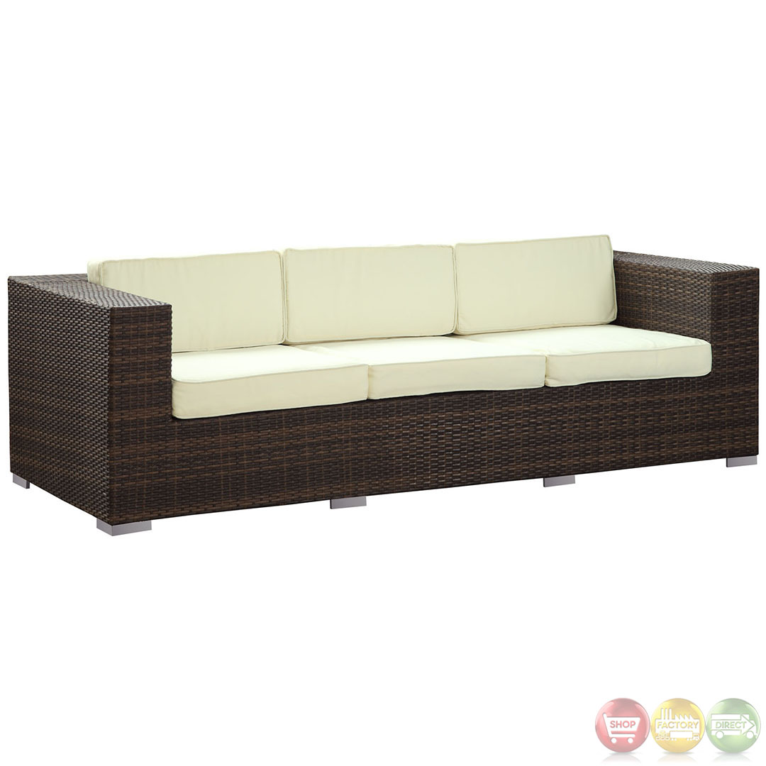 Outdoor Rattan Sofa Daytona Modern Outdoor Wicker Patio Sofa With Water And Uv
