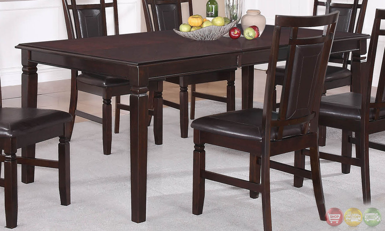 Deb Transitional Dark Wood Casual Dining Set with Sideboard RPCMO34