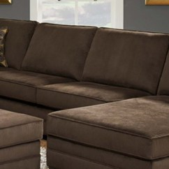 Sectional Sofa U Shaped Crate And Barrel Lounge 2 Piece Deluxe Beluga Brown By Simmons