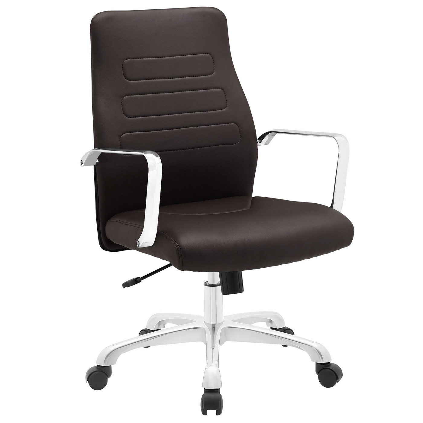 modern aluminum chair microfiber round swivel depict upholstered mid back office with