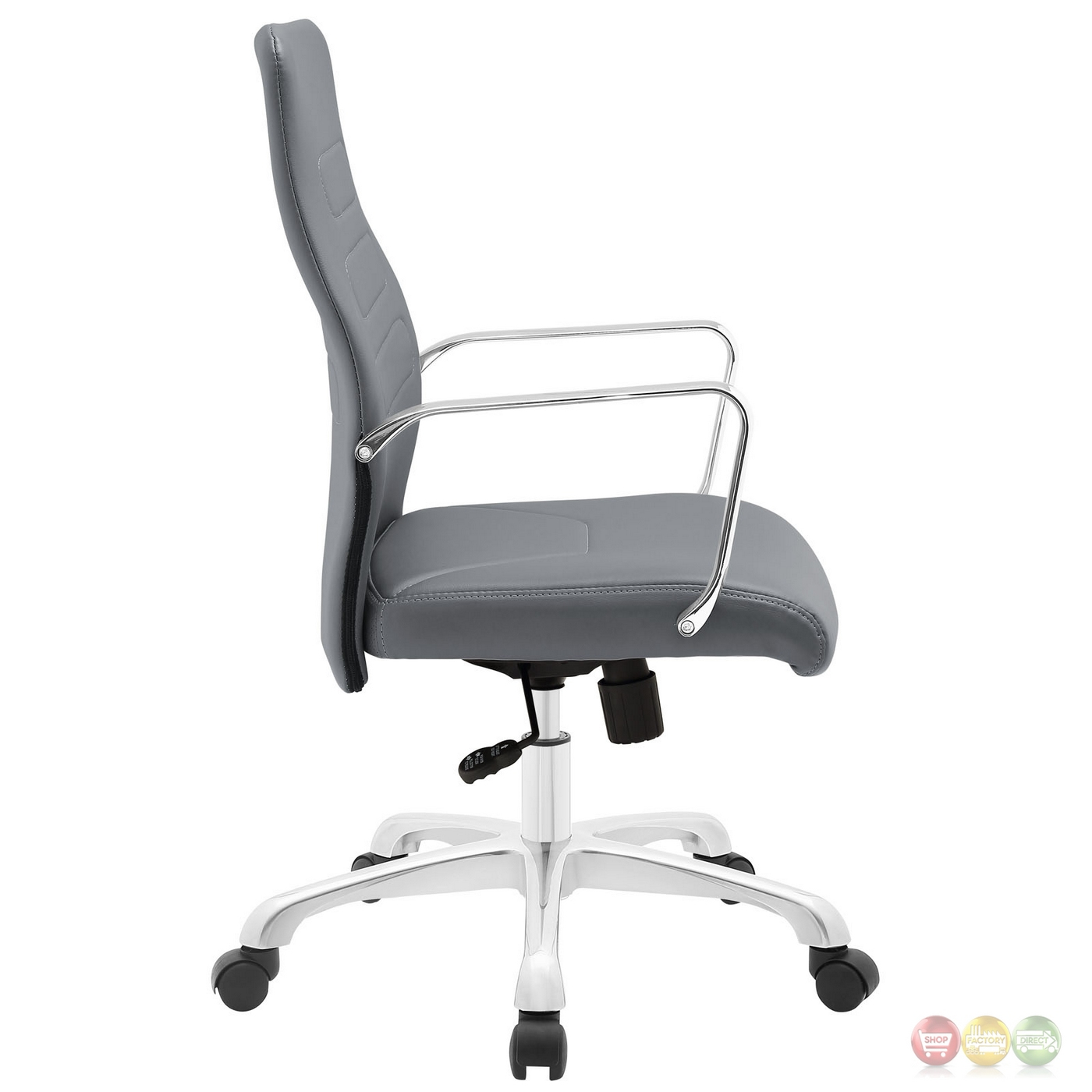 modern aluminum chair dxracer king gaming review depict upholstered mid back office with