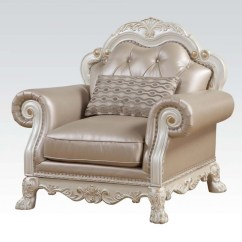 White Tufted Chair Pregnancy Cushion For Office Dresden Formal Button In Antique Pearl
