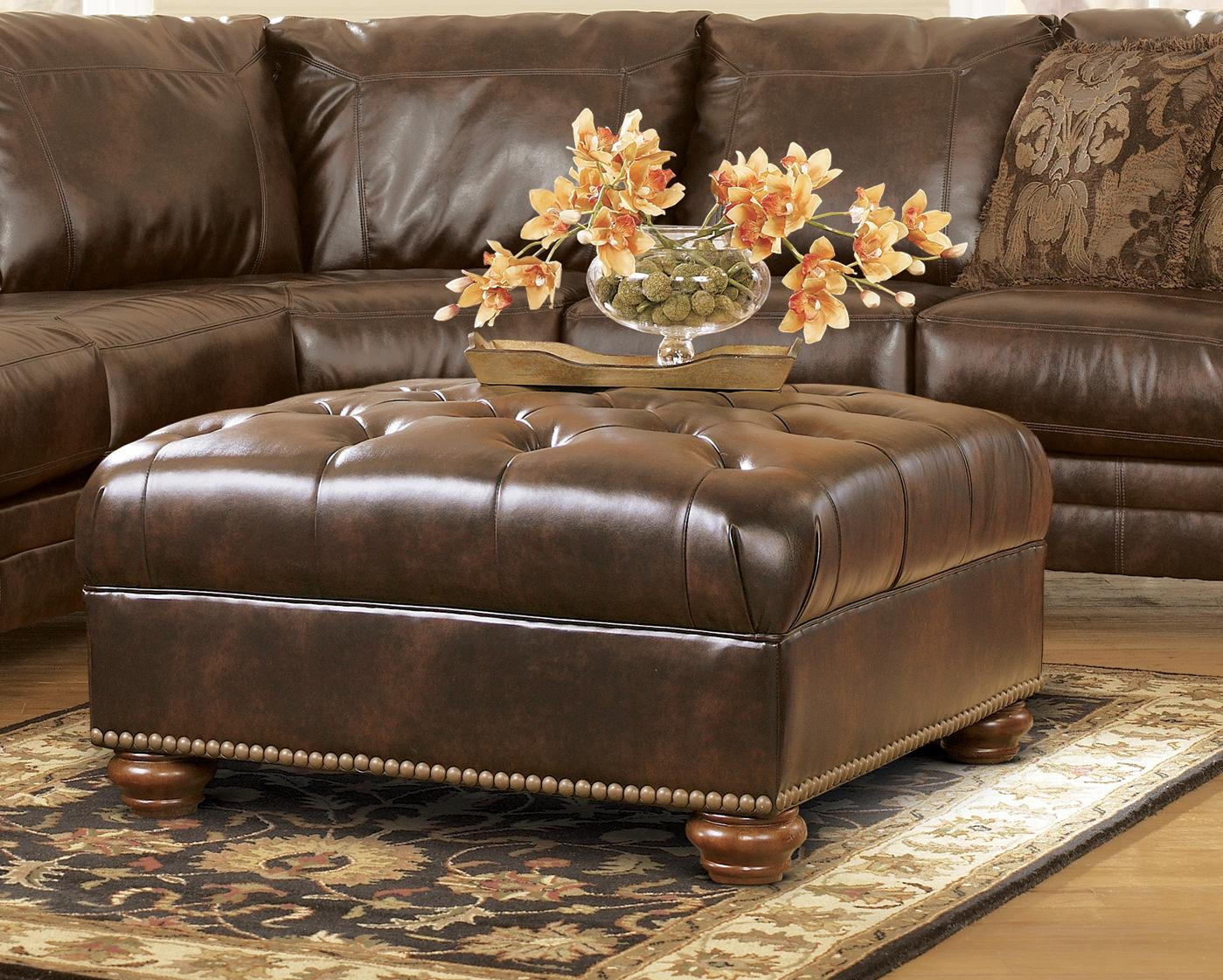 sofa sectional ashley durablend craigslist houston traditional antique brown by