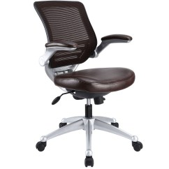 Staples Turcotte Chair Brown Folding Chairs With Arms Edge Modern Adjustable Ergonomic Leather Office W