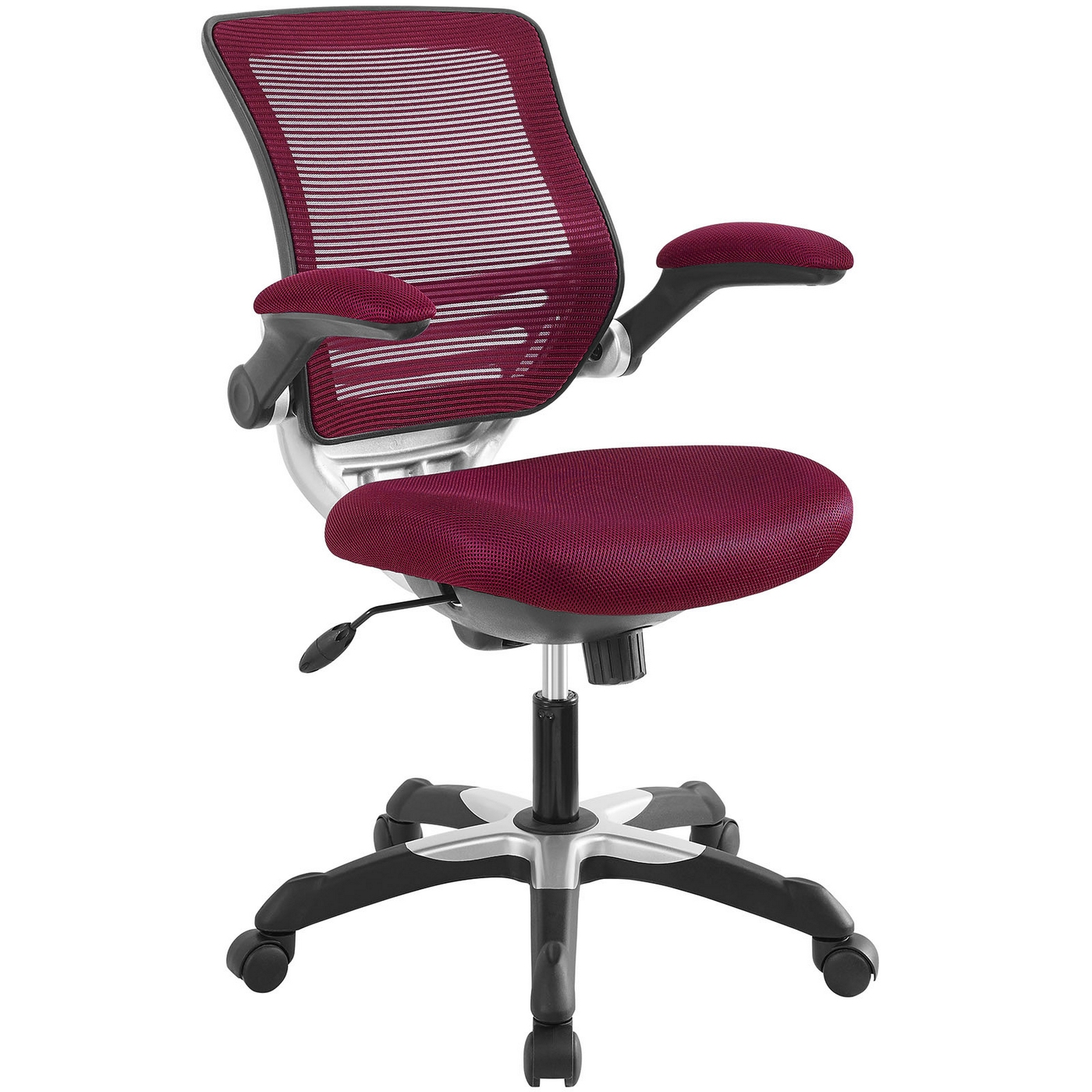 Burgundy Office Chair Edge Modern Adjustable Ergonomic Mesh Office Chair Burgundy