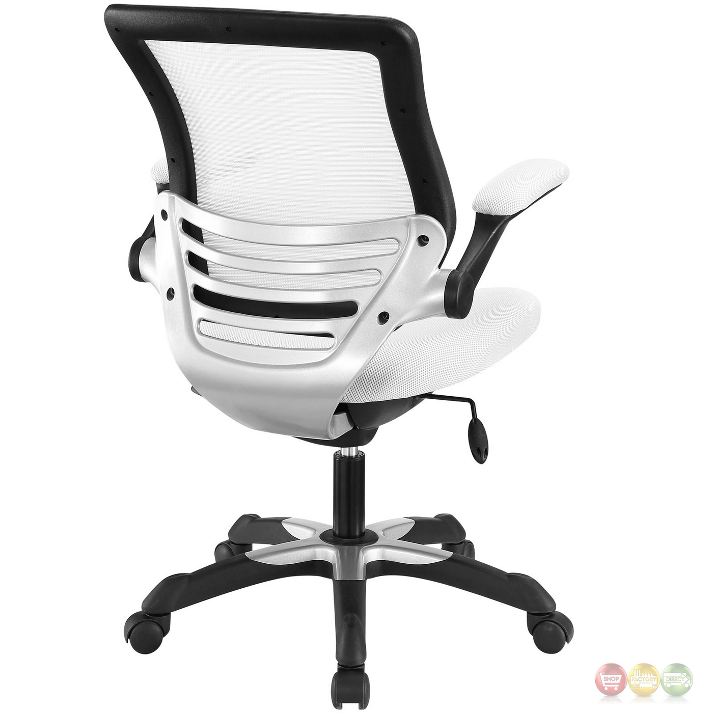 Office Chairs White Edge Modern Adjustable Ergonomic Mesh Office Chair White