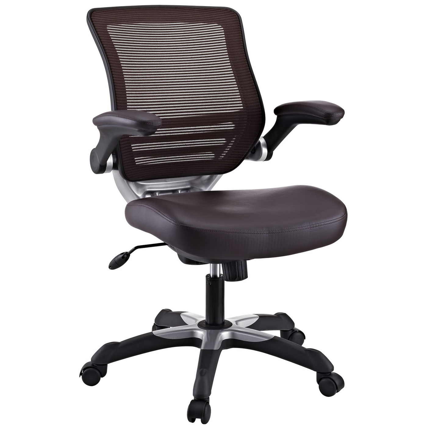 office chair vinyl oversized leather and a half edge modern adjustable ergonomic brown
