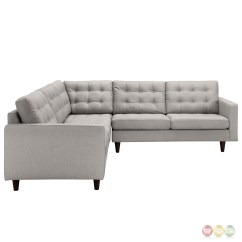 Tufted Sofa Set Good Sofas For Small Apartments Empress 3 Piece Button Upholstered Sectional