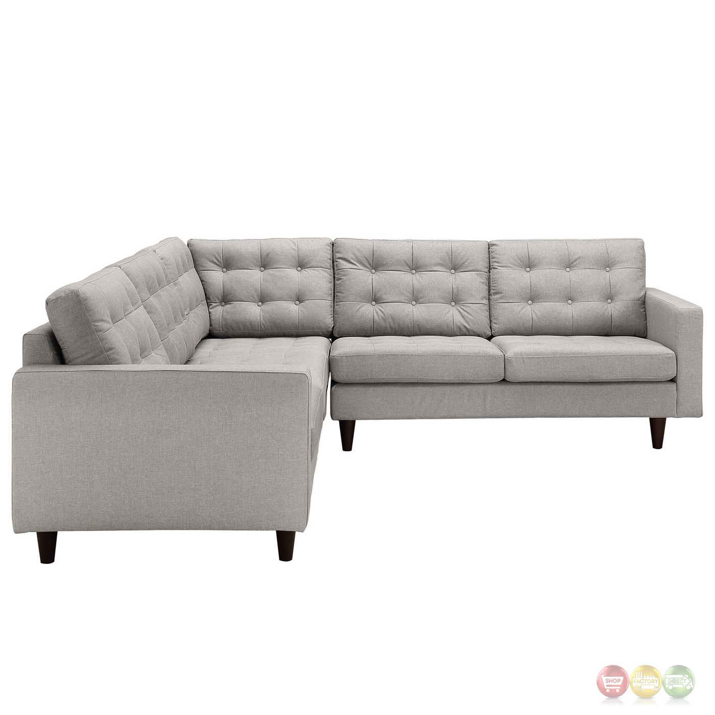 tufted sectional sofa modern chocolate tufted leather sectional rh bjgcfoundation org