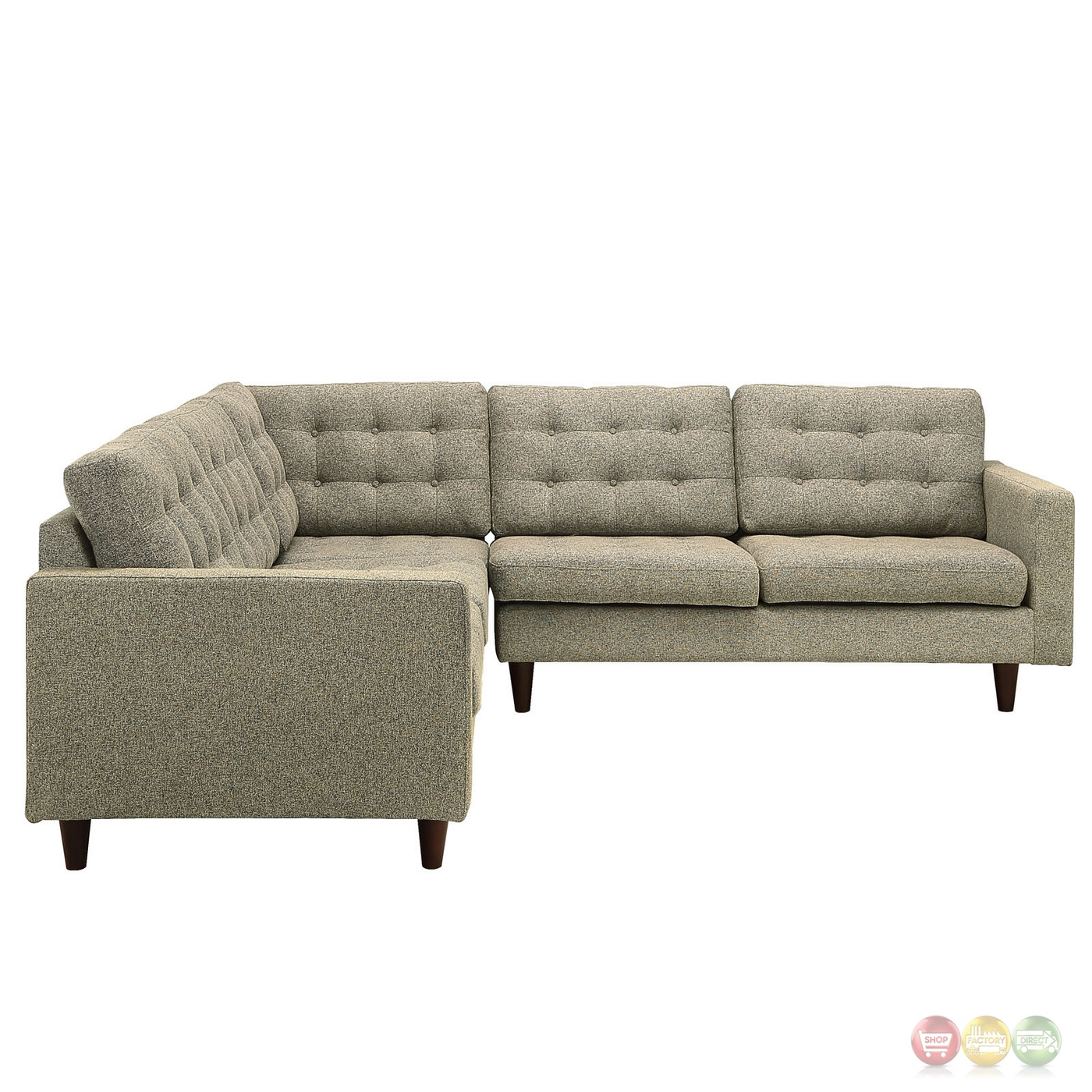 oatmeal sofa set navy blue stretch cover empress 3 piece button tufted upholstered sectional