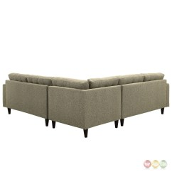 Oatmeal Sofa Set Table Ideas Empress 3 Piece Button Tufted Upholstered Sectional
