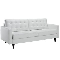 White Tufted Leather Sofa Removal Nyc Empress Contemporary Button