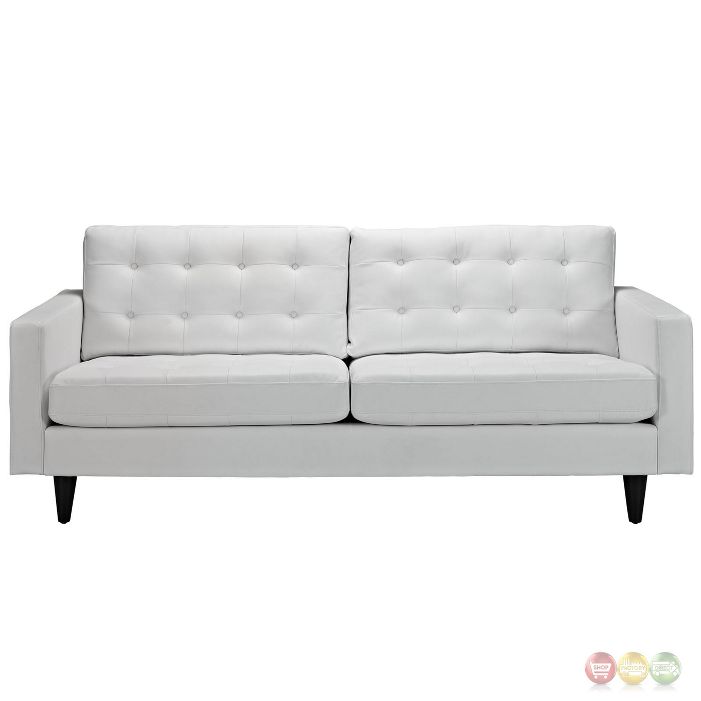 button tufted sofas sofa express sectional empress contemporary leather white