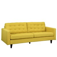 Empress Contemporary Button-tufted Upholstered Sofa, Sunny