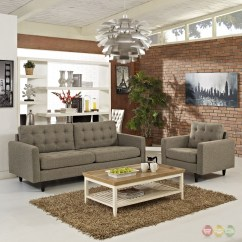 Oatmeal Sofa Set Multiyork Beds Empress Modern 2pc Button Tufted Leather And Armchair