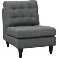 Empress Modern Upholstered Lounge Chair With Button-tufted ...