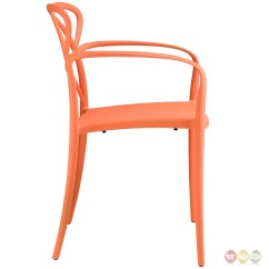 Orange Stackable Chairs Lifetime Folding Chair Parts Enact Modern Stylish Plastic Dining Arm