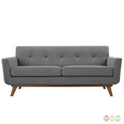 Button Tufted Sofas Best Way To Wash Fabric Sofa Engage Modern 2pc Upholstered Loveseat And