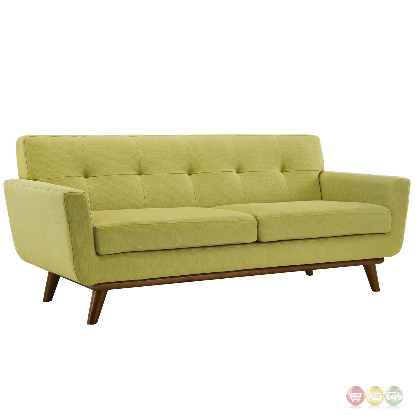button tufted sofas camper sofa bed diy engage modern 2pc upholstered loveseat and