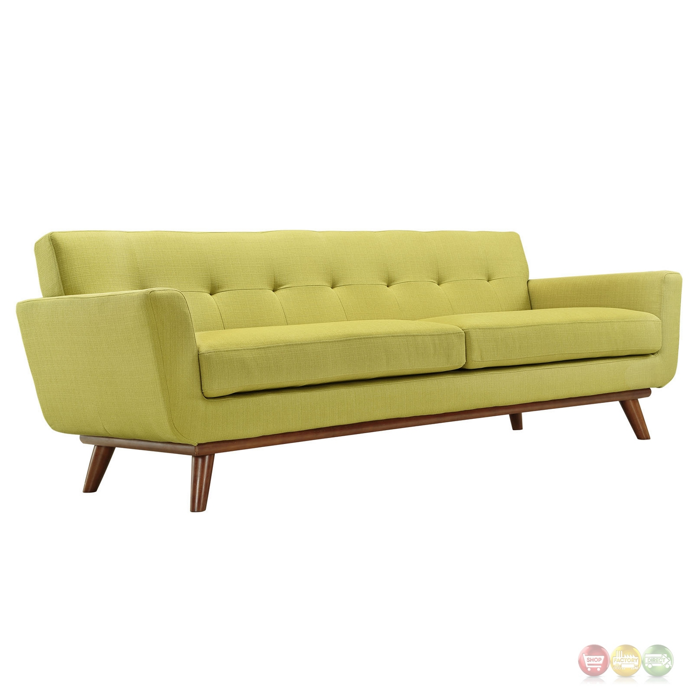 button tufted sofas european leather sofa engage modern 2pc upholstered loveseat and