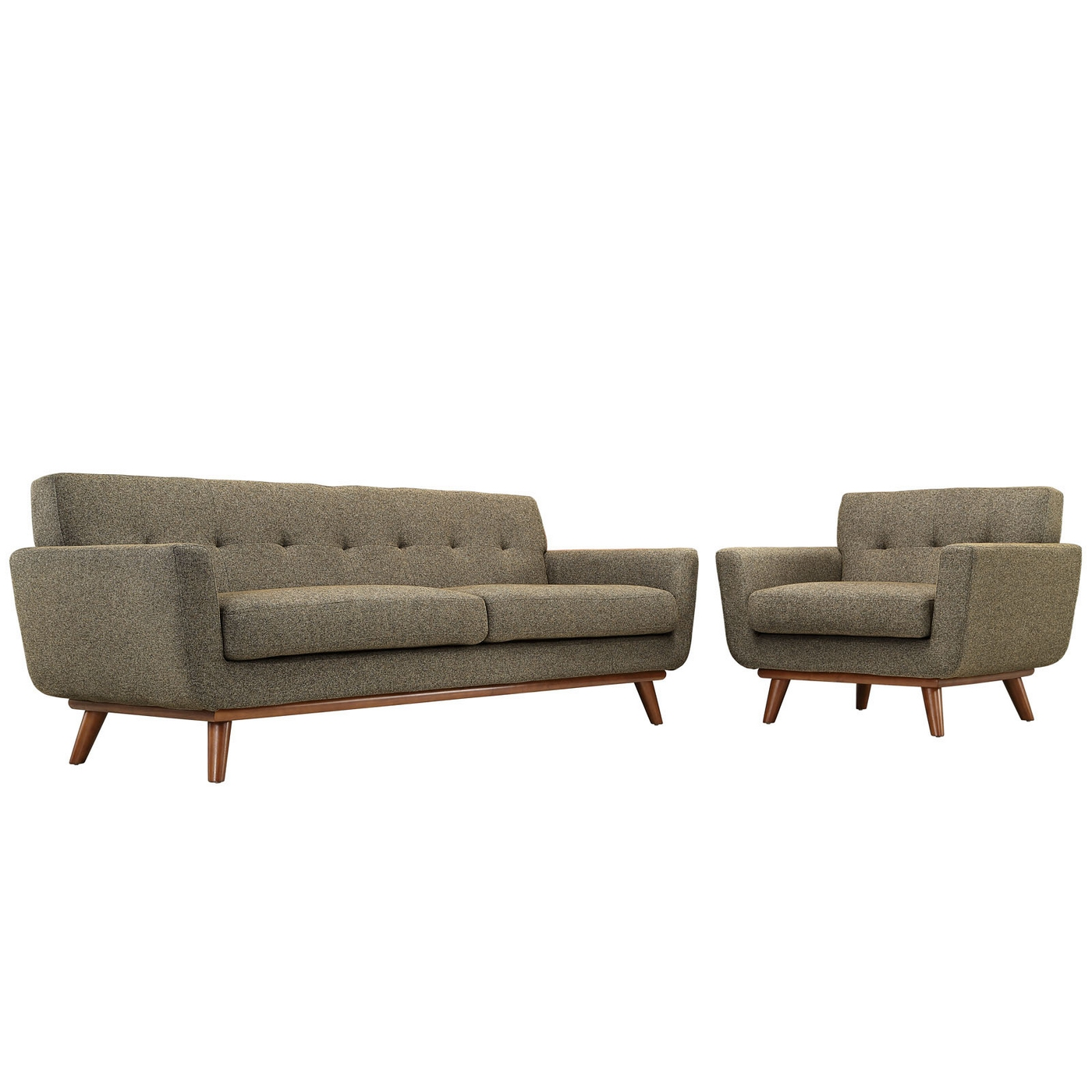 tufted sofa set gold mitc engage modern 2pc upholstered button