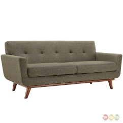 Oatmeal Sofa Set Simmons Microfiber Engage Modern 2pc Upholstered Button Tufted Loveseat
