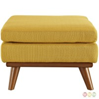 Engage Modern Button-tufted Upholstered Corner Ottoman, Citrus