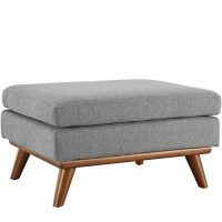 Engage Modern Button-tufted Upholstered Corner Ottoman ...