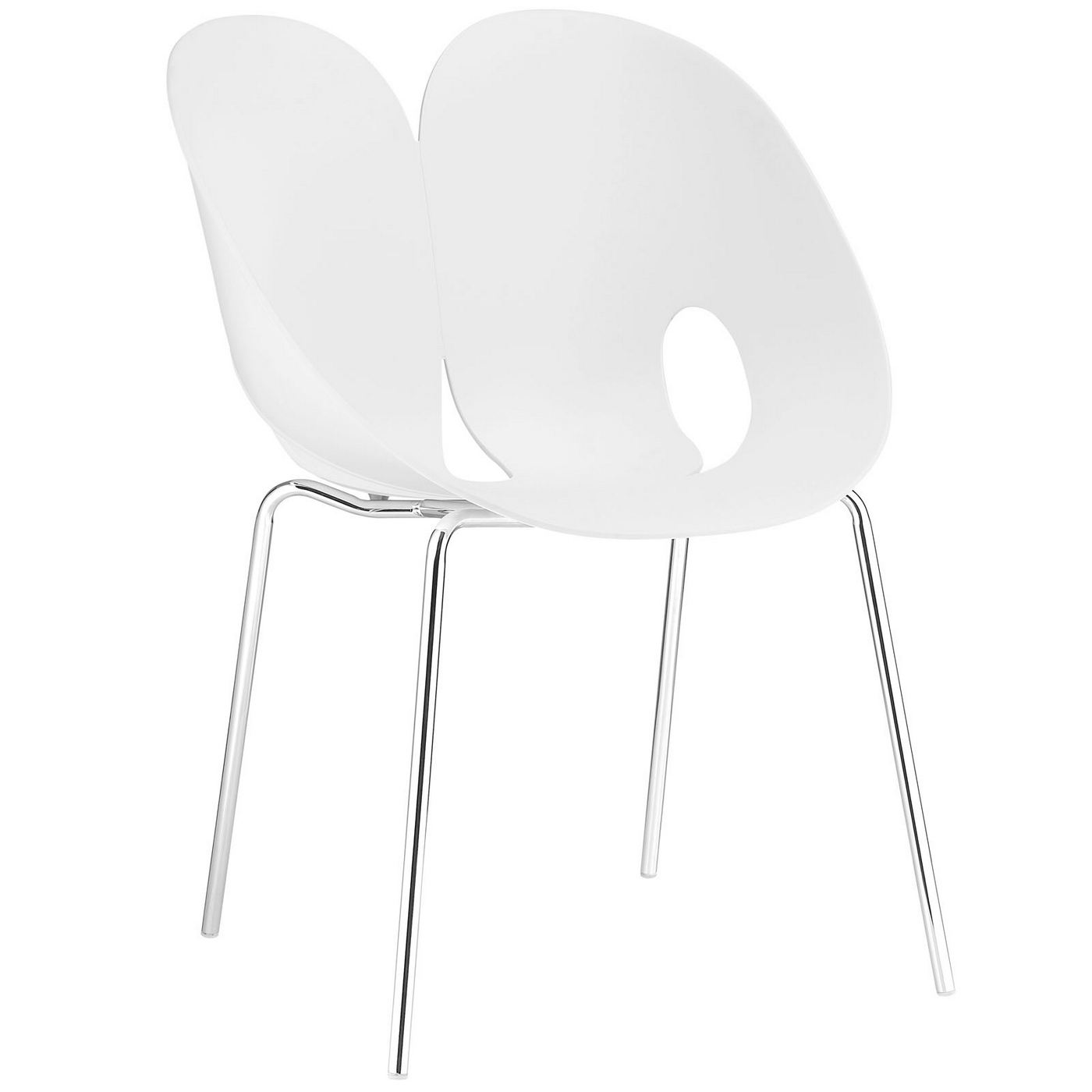 plastic chairs with steel legs dining room nz envelope winged back side chair