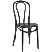 Eon Contemporary Natural Solid Wood Dining Side Chair, Black