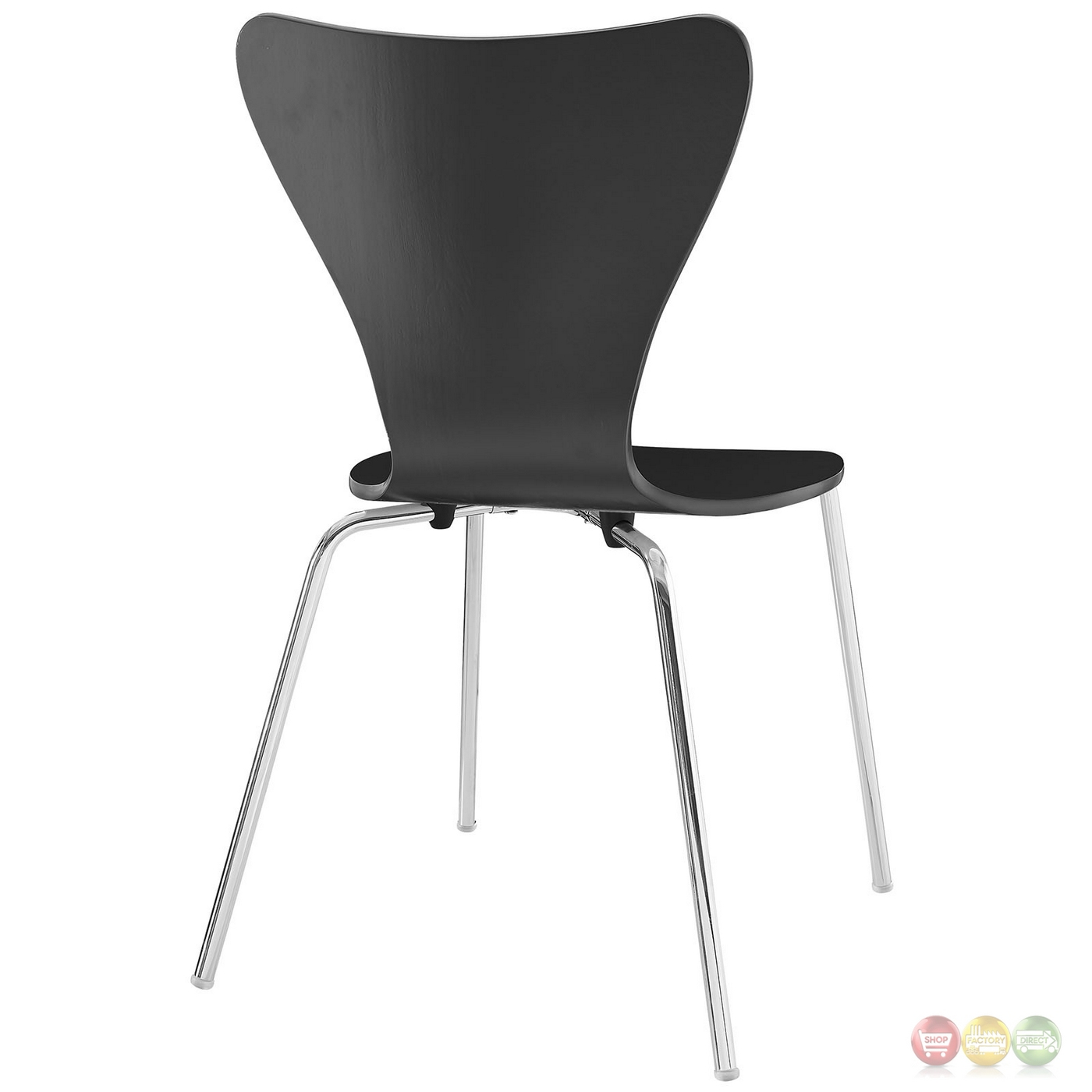black dining room chairs with chrome legs kenny chesney blue chair rum hat ernie modern wood grain panel side w