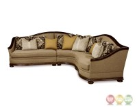 Esperanza Tuscan Natural Beige Sectional Sofa with Aniline ...
