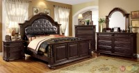 Esperia Luxurious English Brown Cherry Bedroom Set with ...