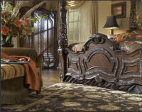Michael Amini Essex Manor Luxury Poster Bed Carved Wood ...