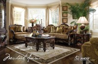 Michael Amini Essex Manor Luxury Upholstered Living Room ...